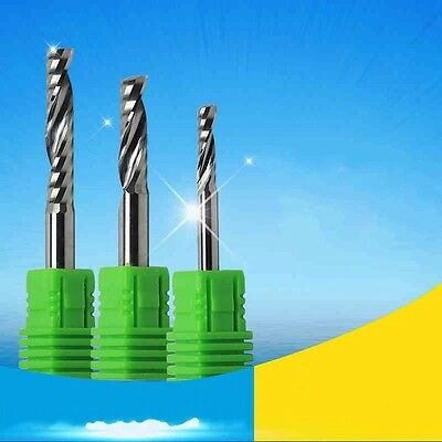 AAA 4//6mm Shank Single Flute Spiral Cutter CNC Router Bits Acrylic//MDF Carving