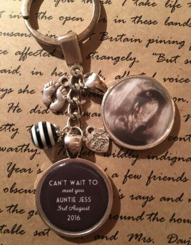 Scan Picture From The Bump Mothers Day Gift Present Personalised Photo Keyring
