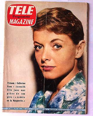 Gemotiveerd Télé Magazine Du 5/07/1959; Catherine Anouilh/ De Caunes Coiffe Souplex