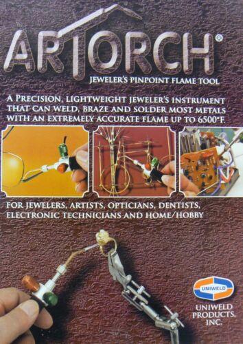 Artorch Little Torch Uniweld Torch Metalcrafts Kit w// 5 Tips Jewelry Soldering