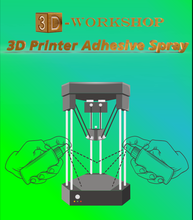 3D PRINTER ADHESIVE SPRAY GLUE Print Bed Sticked