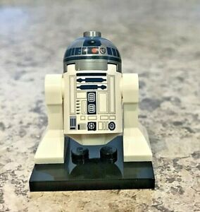 Genuine-LEGO-STAR-WARS-Minifigure-R2-D2-Flat-Silver-Dome-Complete-sw0527