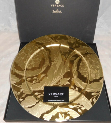 Rosenthal Versace Vanity La Doree 1 x Platzteller 33 cm Neu & Ovp 1.Wahl