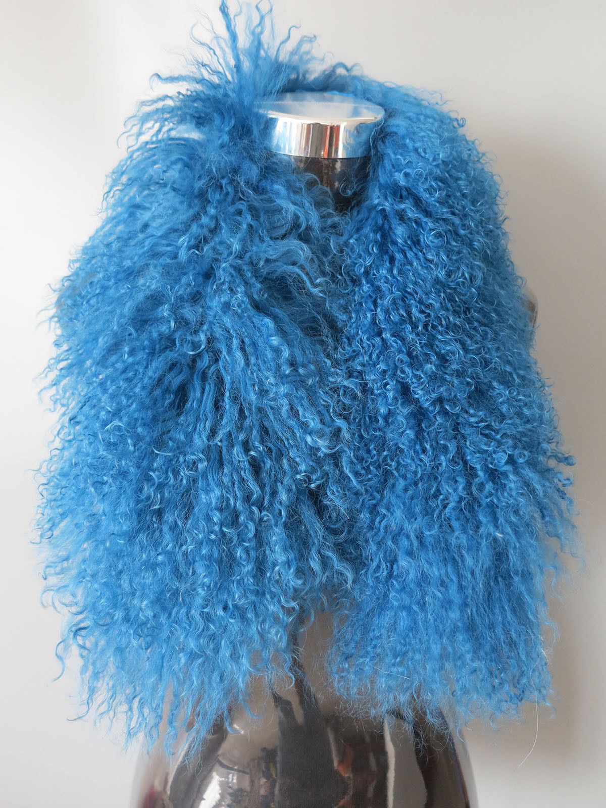 Genuine Mogolian lamb fur scarf /fur collar/ fur wrap /