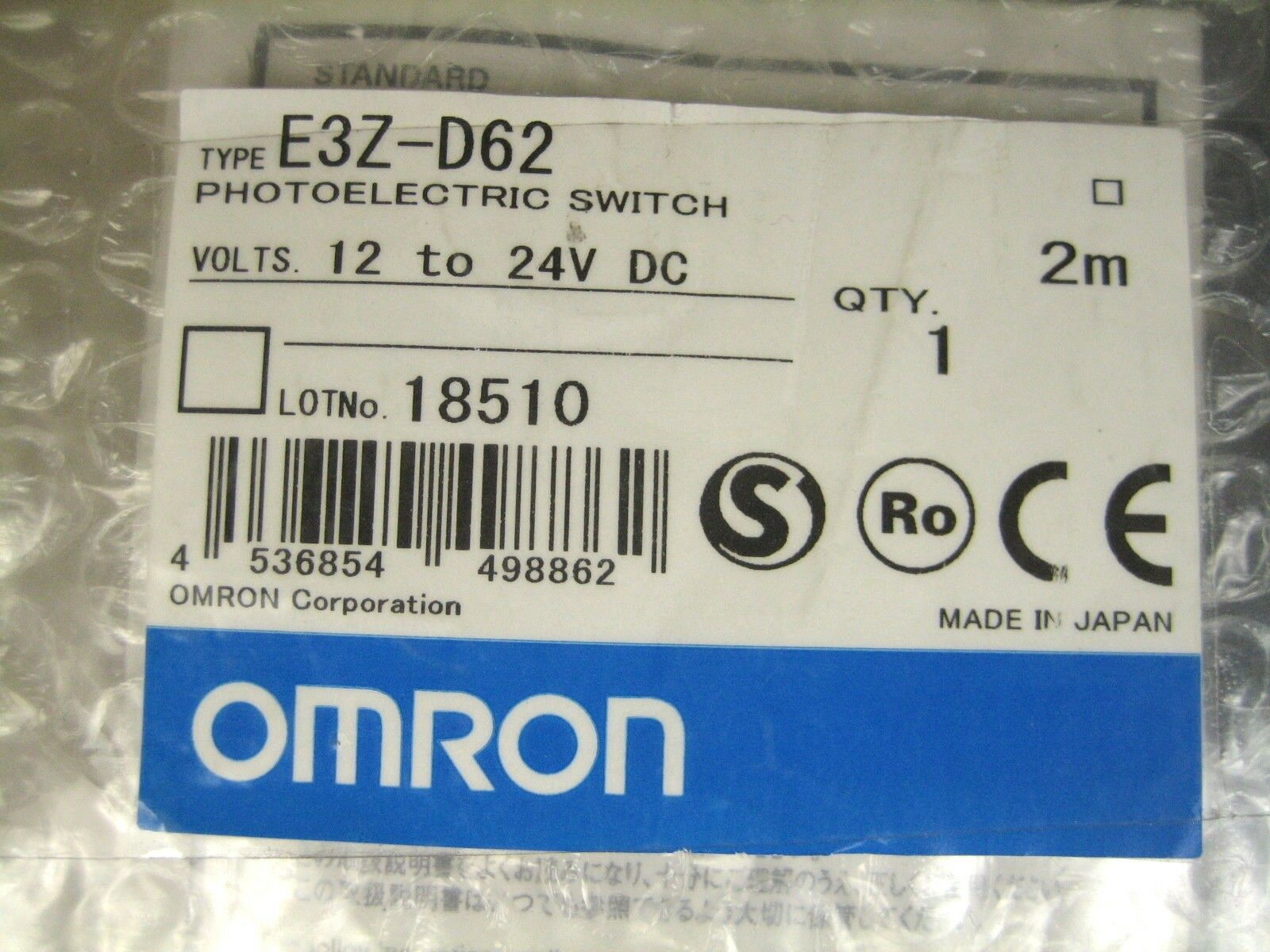 OMRON Photoelectric Switch E3Z-D62 E3ZD62 One year warranty