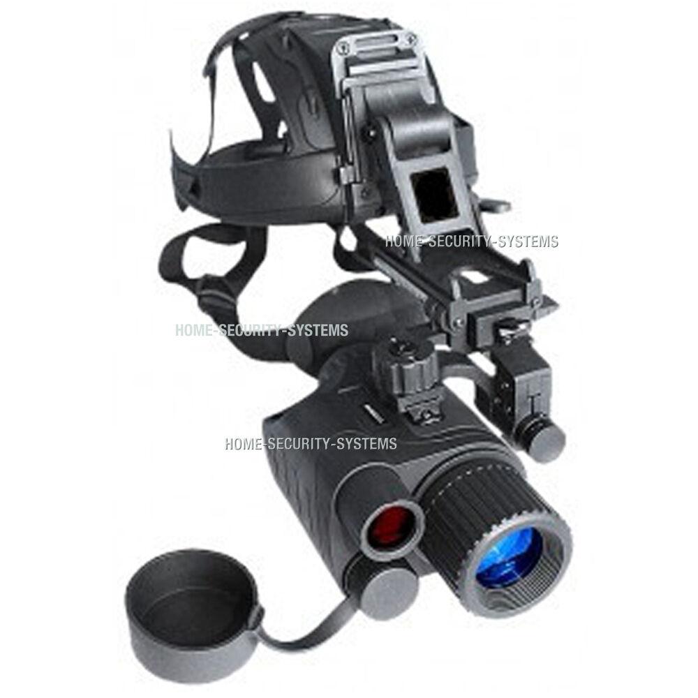 Visión Nocturna Monocular Cabeza montado Kit Ir Tracker Goggle De Seguridad Trail Gen