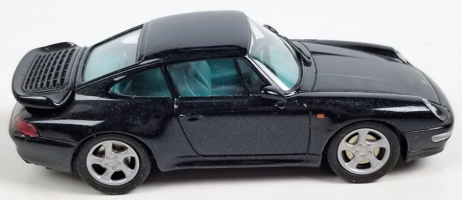Schuco Porsche Turbo nero 1 43 Vintage Raro Diecast Modelo Coche raro de Alemania