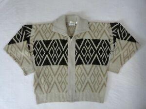 Vintage 70 S London Fog Knit Zip Cowichan Sweater Ebay