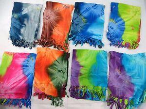 *US SELLER*Lot of 5 wholesale tie dye dresses sarongs hippie clothing