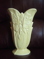 Vintage Nelson McCoy Yellow  Butterfly Vase Excellent!