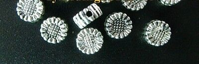 200PCS Tibetan Silver tiny sunflower spacer beads FC500