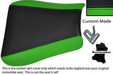 GREEN & BLACK CUSTOM FITS TRIUMPH 01-05 SPEED TRIPLE 955 i FRONT LTHR SEAT COVER