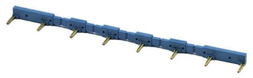 1 Stk Kammbrücke blau 9518