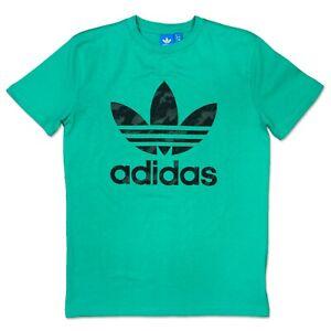 Details about Adidas Vintage Trefoil Tee Mens Sport & Leisure T Shirt Green Black L show original title
