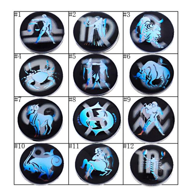 1PC Snap Button Fit Snap Bracelet Blue Print Various Patterns Constellation 18mm