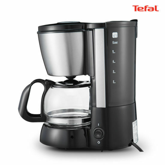 TEFAL CM-1108  Mini Electric Coffee Maker 0.6L 46 Cups 600W Anti-Leakage System