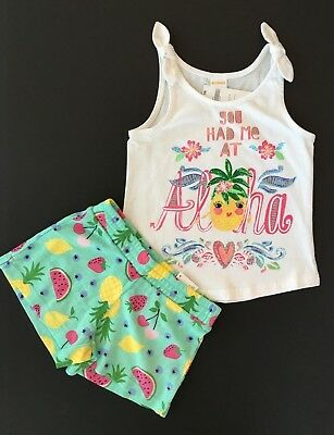Gymboree Girls Tee /& Leggings Pineapple Outfit NWT 4 14 $42.90