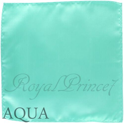 New Men/'s Aqua Mint Micro Fiber Solid Handkerchief Pocket Square Hanky Wedding