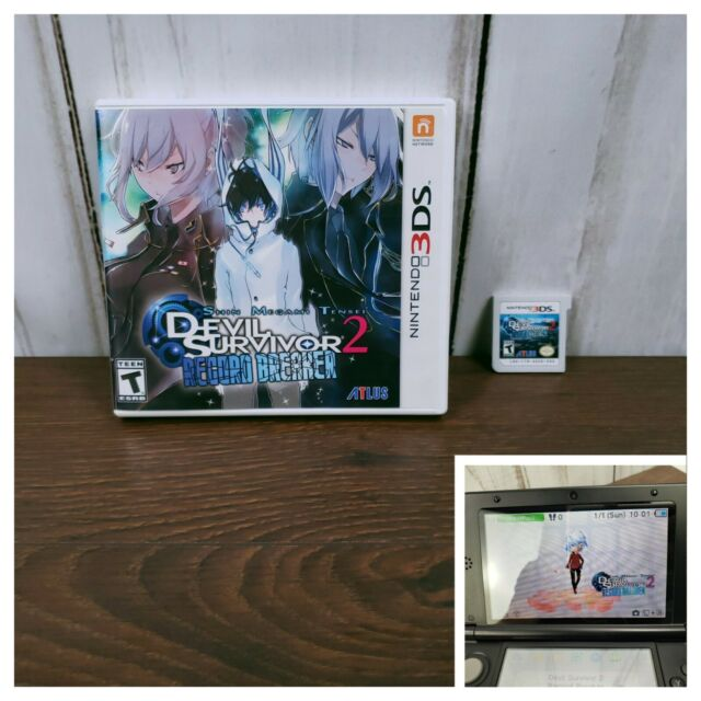 Shin Megami Tensei: Devil Survivor 2 Record Breaker (Nintendo 3DS, 2015) 2DS RPG