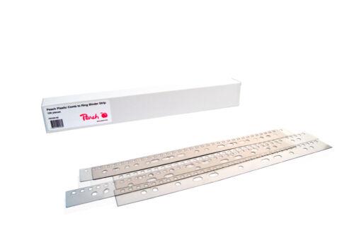 Peach PB500-00 Abheftstreifen für Plastikbinderücken A4 21 Stanzlöcher 100