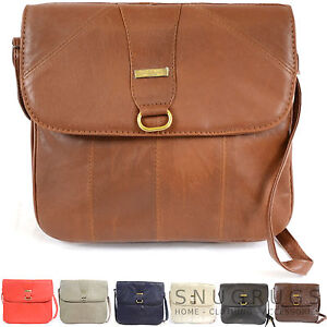 b4ee903998 Image is loading Ladies-Super-Soft-Nappa-Leather-Shoulder-Cross-Body-