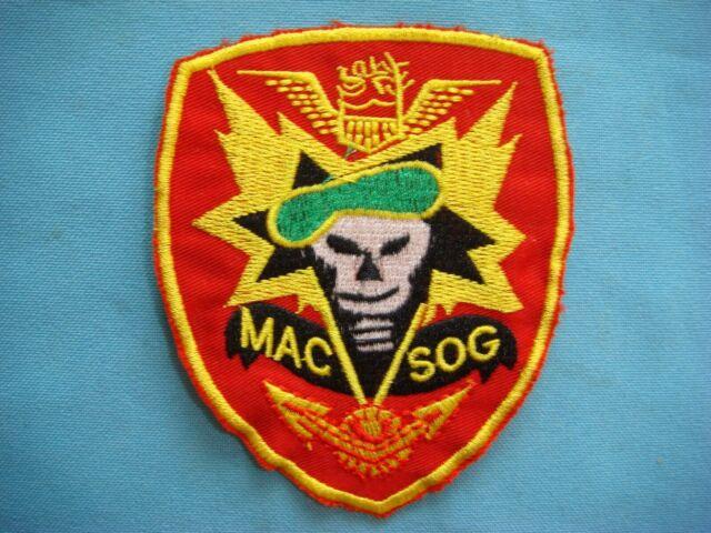 """4 Pcs Vietnam MAC V SOG Red /& Yellow Patch 3/"""""""