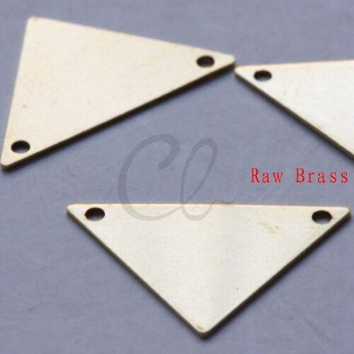 20 Pieces Raw Brass Triangle Link 16x25mm 2005C-F-503