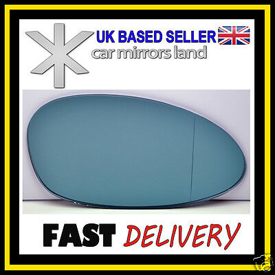 RHD Heated Blue Aspherical Wing Side Mirror Glass Left=Right Fits BMW E36 88-05