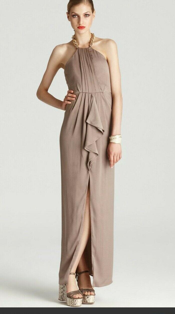 BCBGMAXAZRIA Womens Formal Dress Taupe Milania Size 6 NWT