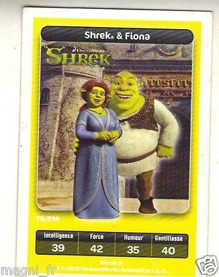 Carte Carrefour Dreamworks.Carte Carrefour Dreamworks N 18 216 Shrek Et Fiona Serie Shrek A3439 Ebay