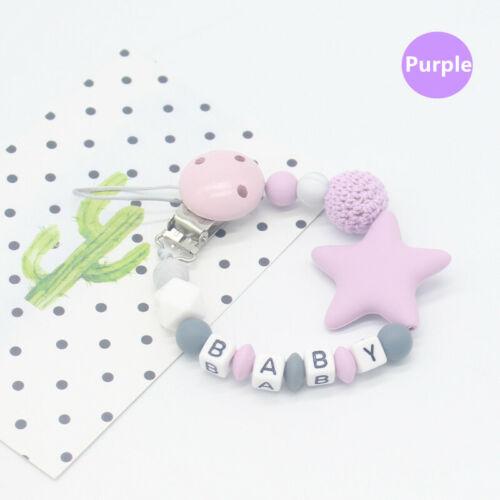 Dentición Baby Chupete Cadenas de clip Anti-Lost Chewable Beads Mordedor Juguete