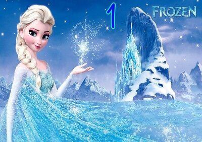 Anna 5 X Disney Frozen Elsa Olaf A4 Poster wall art print Free p/&p