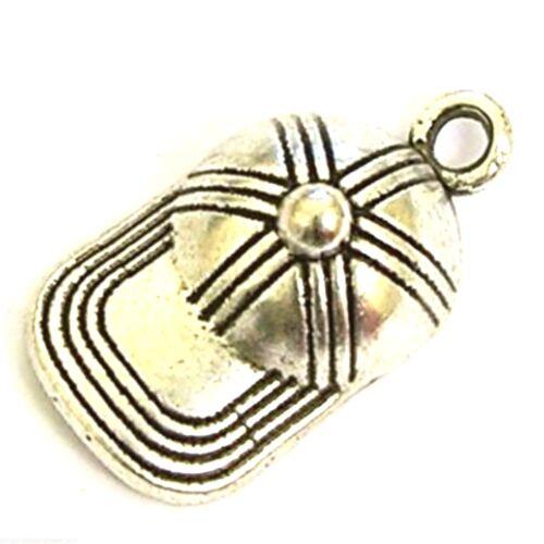 20 Tibetan Silver 19x10mm Hat Charms Jewellery Making