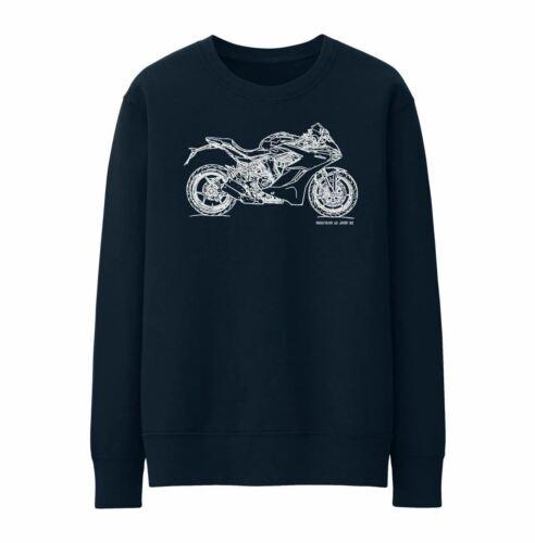 JL Illustration For A Ducati SuperSport S Motorbike Fan Jumper