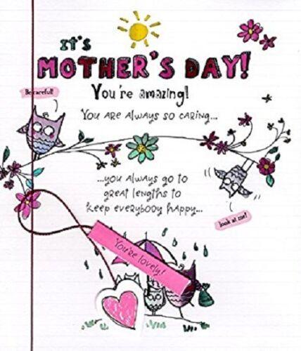 Vous êtes étonnant comme Sunshine Mère/'S Jour Carte fixe de Doodles Carte.. 280983