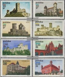 Polen-2058-2065-kompl-Ausg-postfrisch-1971-Burgen