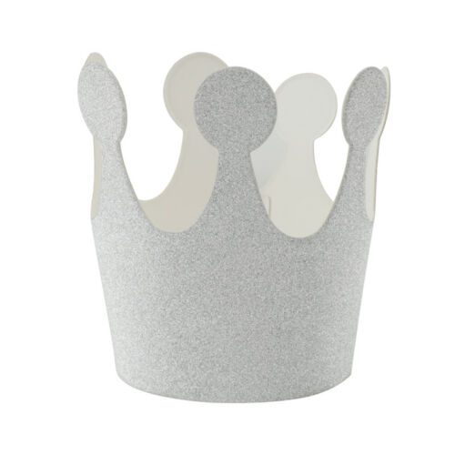 6x Kids Birthday Paper Hats Caps Crown Prince Princess Children Party Decor
