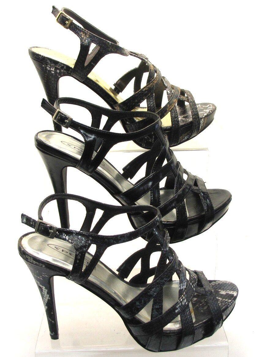 Moda jest prosta i niedroga da donna SPOT ON tacco alto sandalf1489 similpelle nera, Nero serpente e marrone
