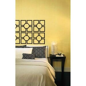 Trellis-Headboard-Mural-Black-Wall-Mural-Sticker-Decal-Room-Decor