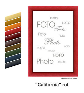 Holz-Bilderrahmen-034-CALIFORNIA-034-viele-Farben-viele-Groessen
