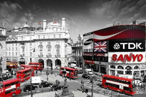 Maxi Poster 91.5cm x 61cm new and sealed Piccadilly Circus London