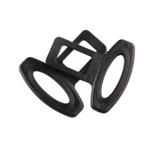 2pcs Universal Black Auto Car Safety Seat Belt Buckle Alarm Stopper Clip Clamp