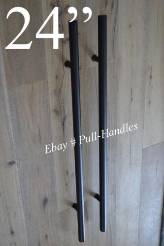 """24/"""" Pulls Handles Entry Door Gate entrance door pull BLACK stainless steel"""
