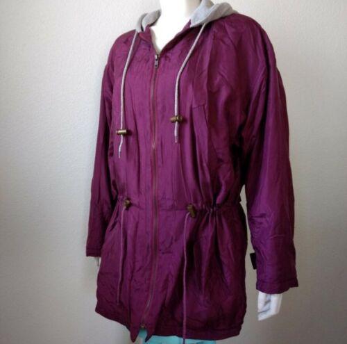 1990s Robert Stock Silk Cotton Hooded Long-Sleeve