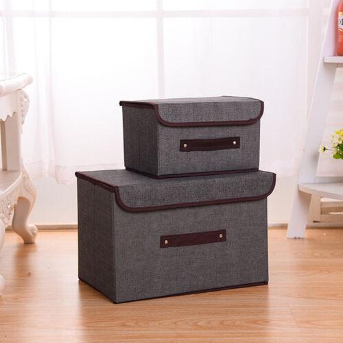 Multifunction Foldable Storage Box Fabric Closet Basket Bins Organizer New