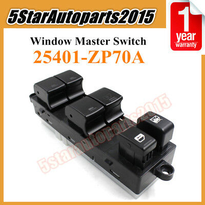Power Window Master Switch Left 25401-ZP70A for Nissan Xterra Frontier 2.5L 4.0L