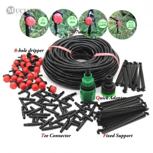 Watering Hose System Automatic Micro Drip Garden Kits With Adjustable Drippers