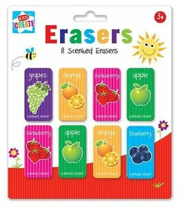 8 Pcs Erasers Children Fruit Scented Eraser Rubbers School Party Bag Filler Gift lYdARriI-09122028-585077352