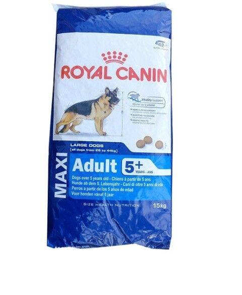 15kg ROYAL CANIN MAXI ADULT 5 cibo per cani