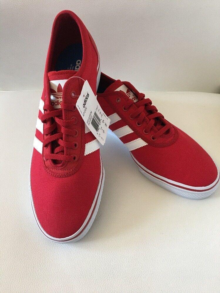 Adidas Men's Adi-Ease Red/White Skateboard Shoes Size 12.5